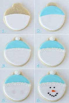 The most beautiful Christmas treats ideas - Trend Christmas Cake 2019 Cookies Cupcake, Snowman Cookies, Christmas Sugar Cookies, Iced Cookies, Cut Out Cookies, Cute Cookies, Christmas Sweets, Christmas Cooking, Royal Icing Cookies