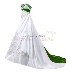 White And Purple Plus Size Satin Wedding Dresses Embroidery Beaded Bridal Gowns - Wedding Dress - Ideas of Wedding Dress Green Wedding Dresses, Wedding Dresses Plus Size, Plus Size Wedding, Cheap Wedding Dress, Bridal Dresses, Wedding Veil, Wedding Dress With Purple, Wedding Gowns, Wedding White