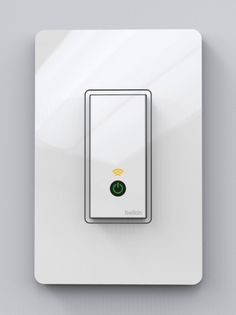 The Belkin WeMo lightswitch can be manually operated as well as being controlled from an app on your iPhone.