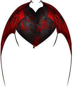 Ange Demon, Demon Art, Princesas Disney Zombie, Black Heart Tattoos, Fantasy Art, Dark Fantasy, Angel Drawing, Dark Love, Hearts And Roses