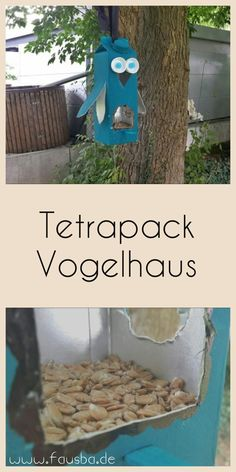 Tetrapack Vogelhaus - - Tetrapack Vogelhaus Vogelhäuser Spring is here and the birds are chirping in the morning. How about a chic bird house for the birds here. There is more in my post. Recycled Crafts Kids, Diy Crafts For Kids, Crafts To Sell, Tetra Pack, Garden Projects, Diy Projects, Winter Diy, Craft Gifts, Creations