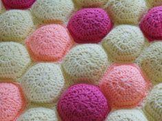 crochet hexipuff blanket