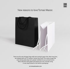 New reasons to love Tomasi Master. #Paperbags #Shopper #Packaging #tearesistant