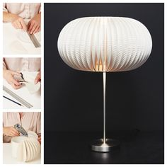DIY a beautiful lamp with 50 paper plates to put in any bedroom or living room. It would be a real eye-catcher. Do you have a basic cylindrical lampshade t