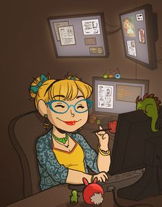 This is either Penelope Garcia@her work space, or my work space, plus copious amounts of coffee application
