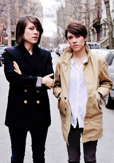 love these two, and they always have the best hair   TEGAN & SARA