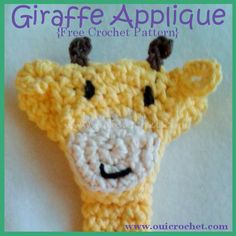 Giraffe Applique {Free Crochet Pattern}, 7/15