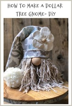 How to make a Dollar Tree Gnome? - How to make a Dollar Tree Gnome? Summer G… How to make a Dollar Tree Gnome? Homemade Fabric Softener, Scandinavian Gnomes, Scandinavian Christmas, Wie Macht Man, Dollar Tree Crafts, Dollar Tree Fall, Dollar Tree Christmas, Styrofoam Crafts, Theme Noel