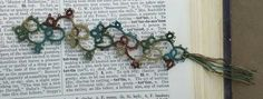 Check out this item in my Etsy shop https://www.etsy.com/listing/241350471/hand-tatted-bookmark-bookmark-book