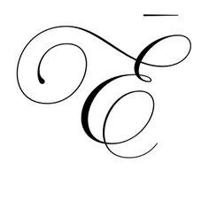 Swirling E tattoo idea xx