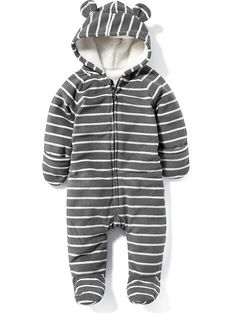 Footed Micro Fleece One-Piece for Baby