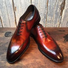 Handmade men leather shoes, brown shaded leather shoe for men, dress formal shoe - Dress/Formal Mens Brown Leather Shoes, Leather Dress Shoes, Real Leather, Soft Leather, Me Too Shoes, Men's Shoes, Shoe Boots, Shoes Style, Shoes Men