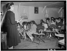 Sunday School At Manzanar Internment Camp New Mods, Human Dignity, Japanese American, Rosa Parks, Group Work, Famous Photographers, Ansel Adams, World War Two, Sunday School