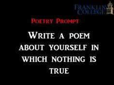 poetry prompt                                                                                                                                                                                 More