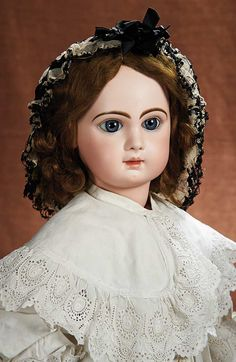 French Bisque Bebe by Emile Jumeau,Size 14,with Beautiful Antique Costume, circa 1888