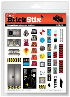 Brick Stix - Space - Reusable Stix For Your Bricks! by BrickStix. $5.99. They are compatible with most smooth plastic bricks.. Choose and place your BrickStix.. BrickStix are reusable, removable and restickable cling decals.. Brick. Stick. Restick. Build your brick creation!. Rearrange as necessary.. Greyson loves to build! When he was nine years old, he was frustrated with the stickers that came with brick sets. If he put them on, he couldn't get them off. Plus, they were l...