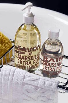 Savon de Marseille liquide Olive Lavande - Compagnie de Provence #ambiance #bain