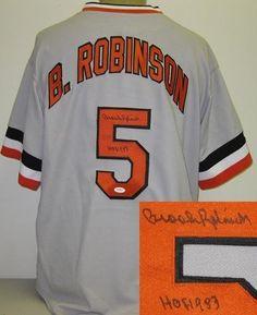 Brooks Robinson Autographed Baltimore Orioles Jersey by Radtke Sports.   199.99. Brooks Robinson Autographed Baltimore 6daa843de
