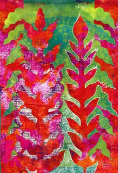 Freckles and Flowers: Gelli printing