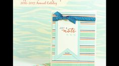 Stampin' Up! Retiring Products - Just a Note card