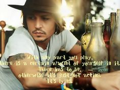 Johnny Depp more people should pay attention to his acting than his looks. Beautiful Men, Beautiful People, Pretty People, Acting Quotes, Johnny Depp Pictures, Most Stylish Men, Films Cinema, Johny Depp, The Lone Ranger