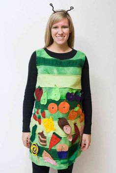 Great handmade The Very Hungry Caterpillar costume! Great handmade The Very Hungry Caterpillar costume! Book Characters Dress Up, Character Dress Up, Book Character Day, Book Character Costumes, Teacher Halloween Costumes, Halloween Office, Hallowen Costume, Halloween Kostüm, Costume Ideas