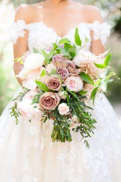 real wedding photo at estancia la jolla fairy tale enchanted garden theme pink purple rose flower greenery Floral Wedding, Wedding Bouquets, Wedding Dresses, La Jolla Hotels, Purple Roses, Pink Purple, Indian Wedding Photography, Garden Theme, On Your Wedding Day