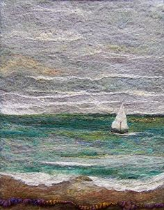 Your place to buy and sell all things handmade Weaving Art, Tapestry Weaving, Wet Felting, Needle Felting, Felt Fish, Felt Wall Hanging, Landscape Art Quilts, Felt Pictures, Felt Embroidery