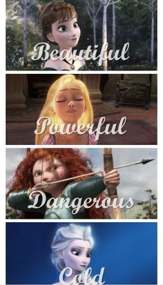 Anna, Rapunzel, Merida, and Elsa