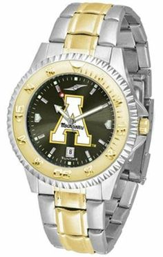 Appalachian State Mountaineers ASU NCAA Mens Two-Tone Anochrome Watch SunTime. $93.95. AnoChrome Dial Enhances Team Logo And Overall Look. Men. Links Make Watch Adjustable. Officially Licensed Appalachian State Mountaineers Men's Stainless Steel and Gold Tone Watch. Two-Tone Stainless Steel. Save 21% Off!