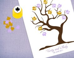 guest book tree with paper punch by idoityourself, via Flickr