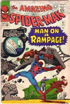 The Amazing Spider-Man #32 - January 1966 cover by Steve Ditko