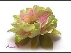 """МК Цветы из фоамирана. Простой способ создания красивого украшения """"Фист..."""
