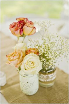 rose wedding reception table decor// photo by Andie Freeman
