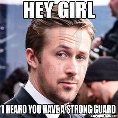 I heard you have a strong guard. Martial arts humor