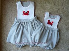 Southern Matriarch: Feeling Crabby? Creations of Michie playsuit pattern