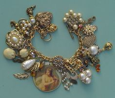Treasure Under The Sea Mermaid bracelet. dragonflyvintage2 ebay.com