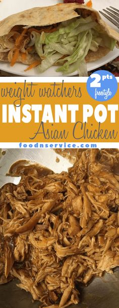 This is the easiest Instant Pot Asian Chicken that you're going to make for your Weight Watchers meal plan! It has only 2 Freestyle points! You can make this in your Instant Pot using the slow cooker function or Manual Pressure! #instantpot #asianchicken #instantpotrecipes #weightwatchers #freestyle #instantpotweightwatchers