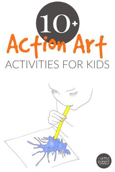 Action art is extra fun for kids of all ages! The action art activities in this Printable Activity Pack are perfect for outdoors and summer vacation.