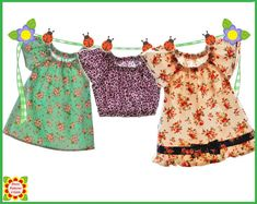 Emily Peasant TOP Sewing PATTERN for Girls 12m-12y  by 5Berries