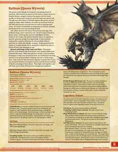 Homebrewing monsters Ember Dungeon Mastery Monster Hunter World: Jagras and Rathian Dnd Dragons, Dungeons And Dragons Characters, D&d Dungeons And Dragons, Dnd Characters, Myths & Monsters, Cool Monsters, Dnd Monsters, Magical Creatures, Fantasy Creatures