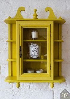 Re-loved Medium Display Cabinet Hand Painted in English