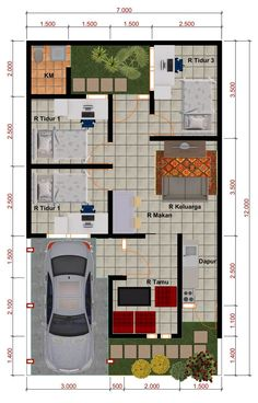 Small House Layout, House Layouts, House Front Design, Small House Design, Modern House Plans, Small House Plans, House Construction Plan, 2 Bedroom House Plans, Apartment Floor Plans