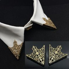 Vintage Shirt Collar Pin Jewelry Men Suit Brooch Pins Accessaries Cheap Hollow Out Carved V Shape Brooches Shield brooch CY064-in Brooches from Jewelry on Aliexpress.com | Alibaba Group
