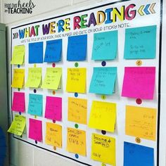 25 Sticky Note Teacher Hacks You'll Want to Steal Sticky Notes Head over Heels for Teaching Teaching 5th Grade, 5th Grade Reading, 4th Grade Classroom, Teaching Reading, Reading Jobs, Ks1 Classroom, Teaching Ideas, Classroom Walls, Guided Reading