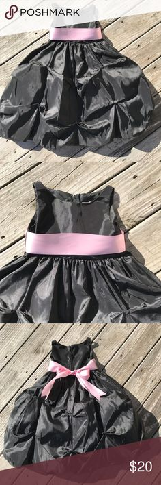 Gorgeous gown, size 2! This black beauty is a true gown!  Super full skirt and gorgeous sash in a light pink! Sophia Young Dresses Formal