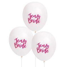 10pcs Team Bride Latex Balloons