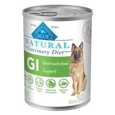 BLUE Natural Veterinary Diet GI Gastrointestinal Support For Dogs 125OzCan Pack of 12 >>> You can find out more details at the link of the image.