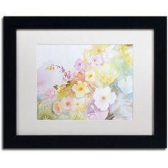 Trademark Fine Art 'Garden Magic' Canvas Art by Sheila Golden, White Matte, Black Frame, Assorted