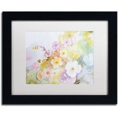 Trademark Fine Art 'Garden Magic' Canvas Art by Sheila Golden, White Matte, Black Frame, Size: 11 x 14, Assorted